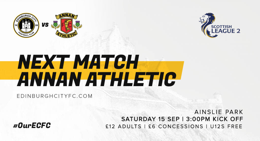 Match Preview: Annan Athletic (H)